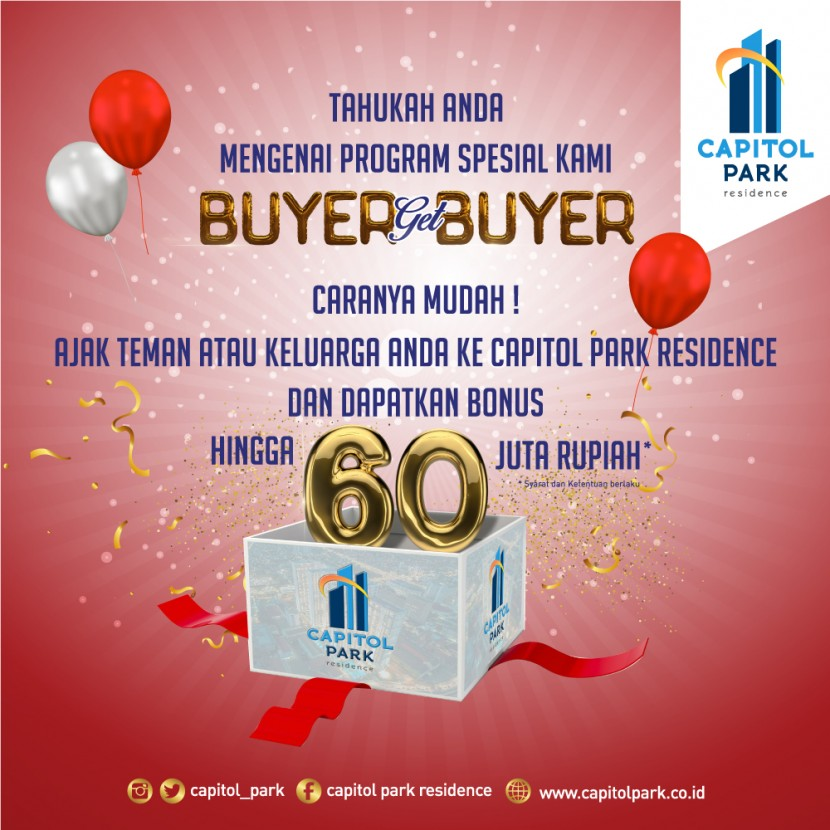 Capitol park residence salemba jakarta pusat - Buyer Get Buyer - Aug 2019