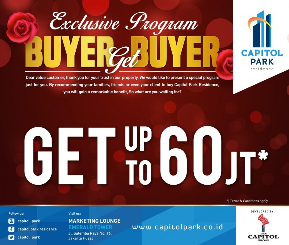 Capitol park residence salemba jakarta pusat - Buyer Get Buyer - Feb 2019