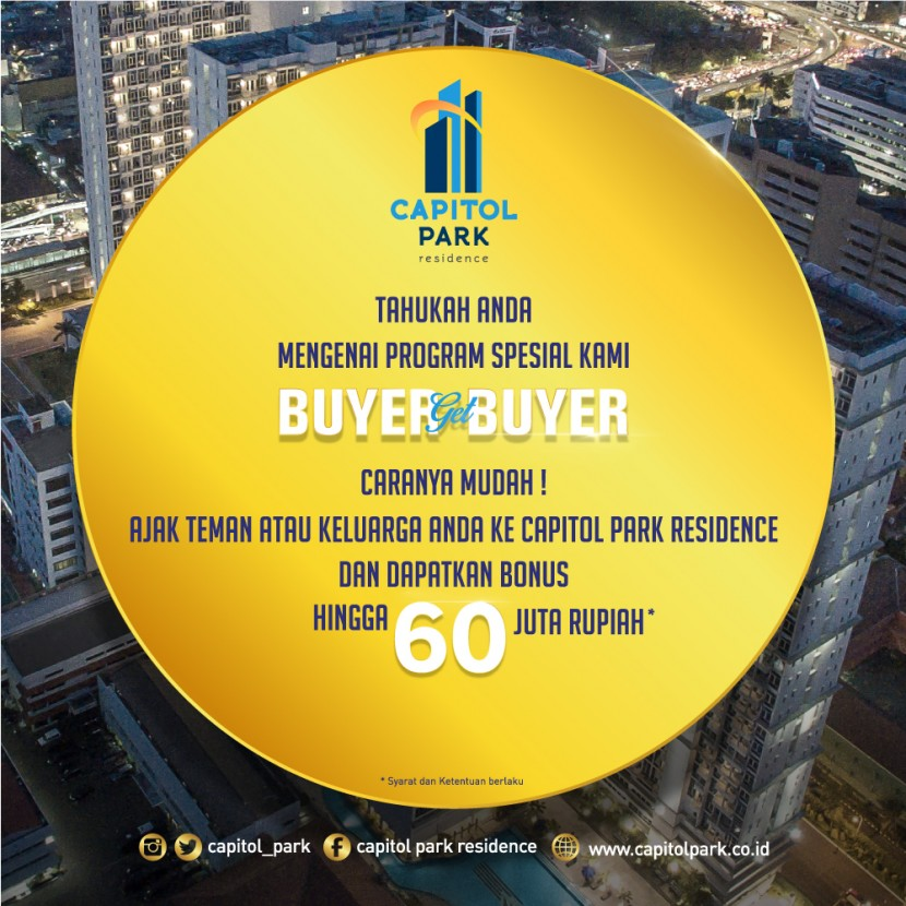 Capitol park residence salemba jakarta pusat - Buyer Get Buyer - July 2019