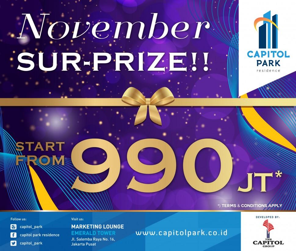 Capitol park residence salemba jakarta pusat - November Sur-Prize!!