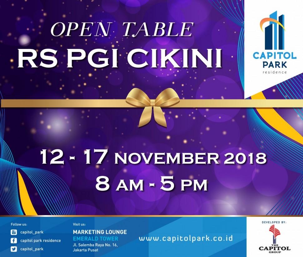 Capitol park residence salemba jakarta pusat - Open Table Nov 2018