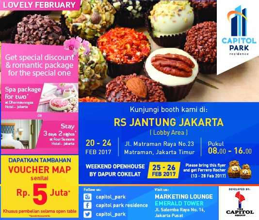 Capitol park residence salemba jakarta pusat news - II Open Table Capitol Park Residence di lobby utama RS Jantung Jakarta.