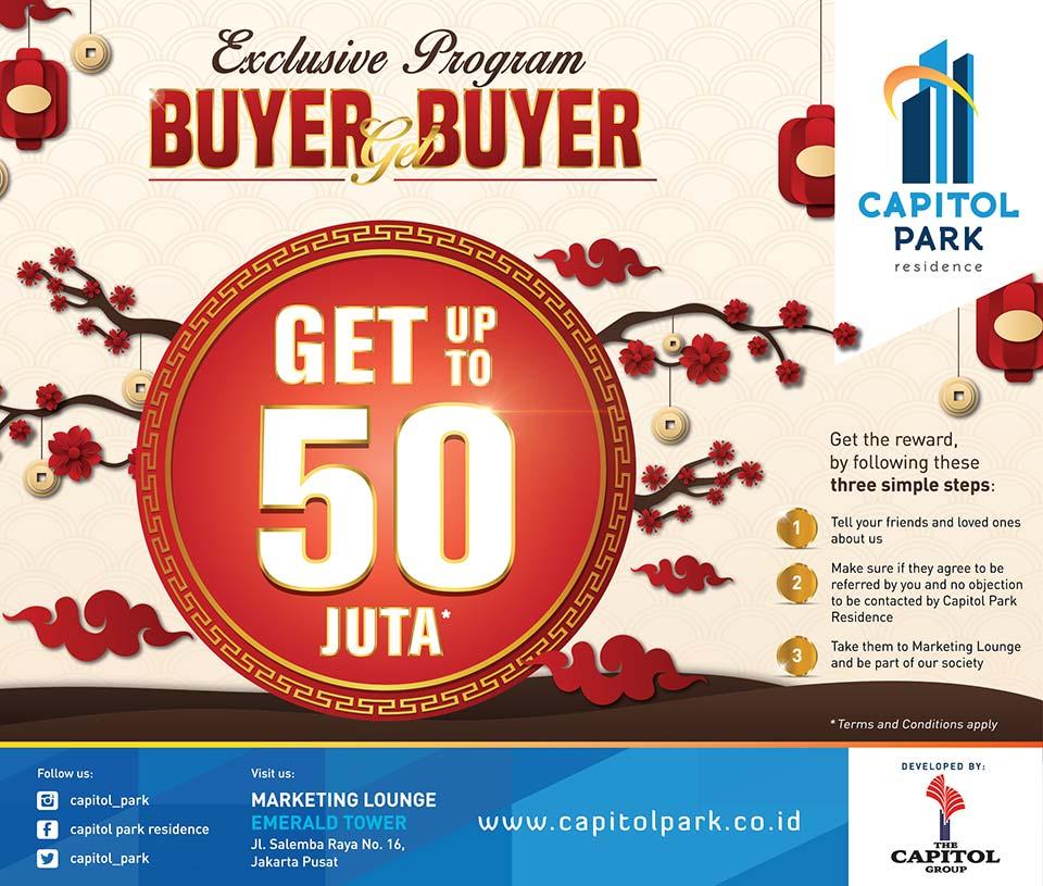Capitol park residence salemba jakarta pusat - Exclusive Program - Buyer Get Buyer Februari