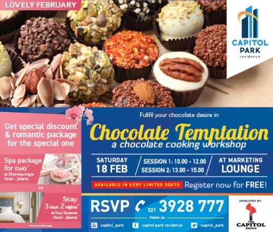 Capitol park residence salemba jakarta pusat - CHOCOLATE COOKING WORKSHOP
