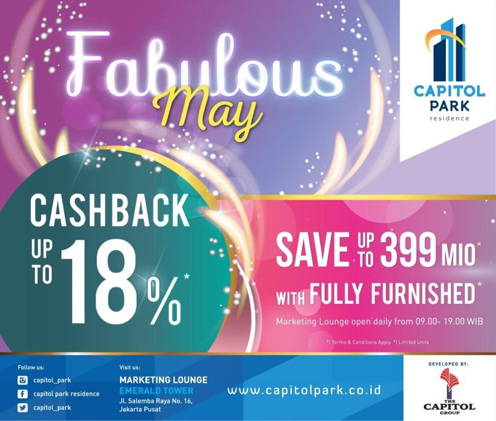 Capitol park residence salemba jakarta pusat - Extra Cashback  - May 2018