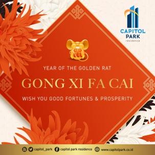 Capitol park residence terjangkau siap huni - Chinese New Year - Jan 2020