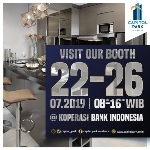 Capitol park residence terjangkau siap huni - Our Booth - July 2019