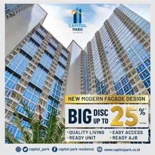 Capitol park residence terjangkau siap huni - New Modern Facade Design & Big Disc - Nov 2020