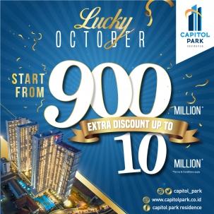 Capitol park residence terjangkau siap huni - Lucky - Oct 2019
