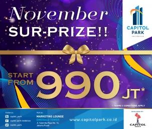 Capitol park residence salemba jakarta pusat news - November Sur-Prize!!