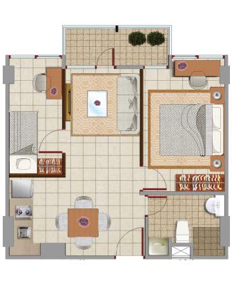 Sewa apartemen Maps BAT emerald room jakarta pusat