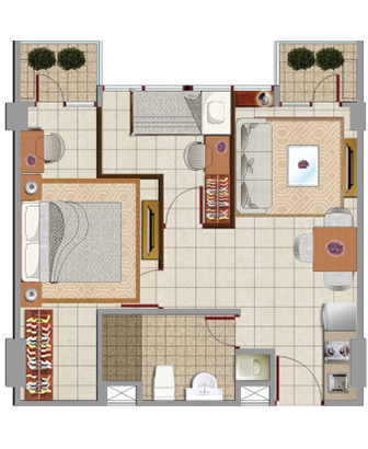 Sewa apartemen Maps BBT emerald room jakarta pusat