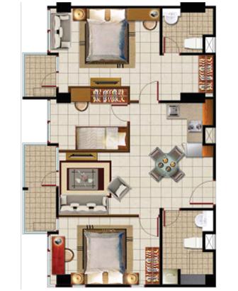 Sewa apartemen Maps BCAT room emerald pusat jakarta