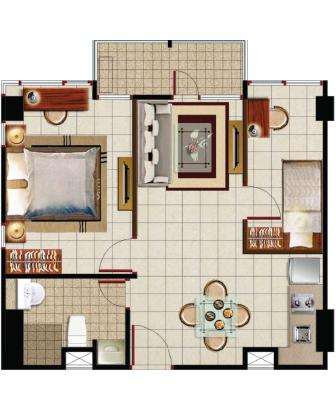Sewa apartemen Maps BCT