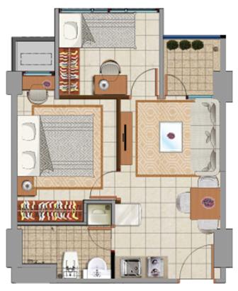 Sewa apartemen Maps BDT emerald jakarta