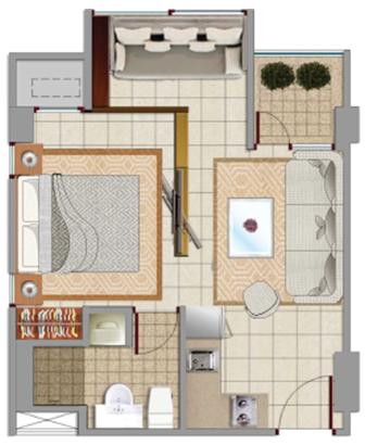 Sewa apartemen Maps BSCT emerald jakarta pusat