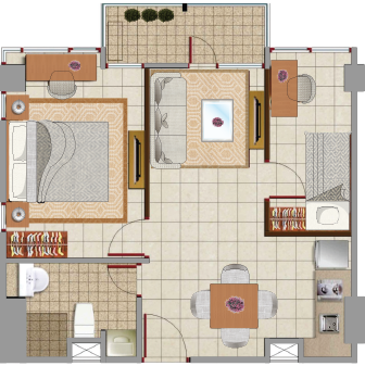 Sewa apartemen Denah Sapphire lokasi di menteng