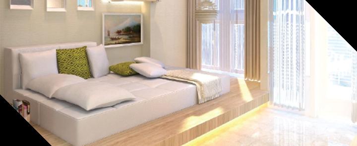 Capitol park residence tower salemba jakarta pusat- Emerald White Bedrooms